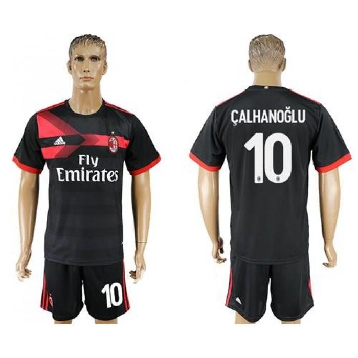 AC Milan #10 Calhanoglu Away Soccer Club Jersey