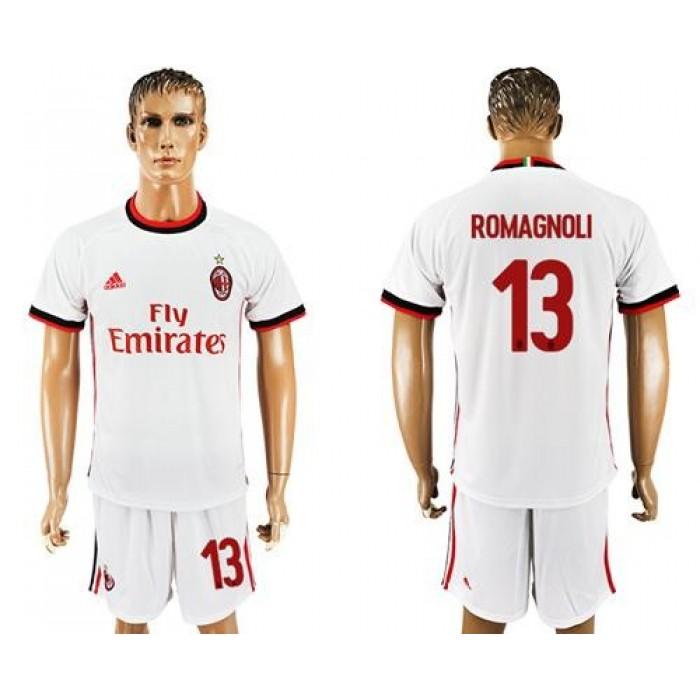 AC Milan #13 Romagnoli Away Soccer Club Jersey