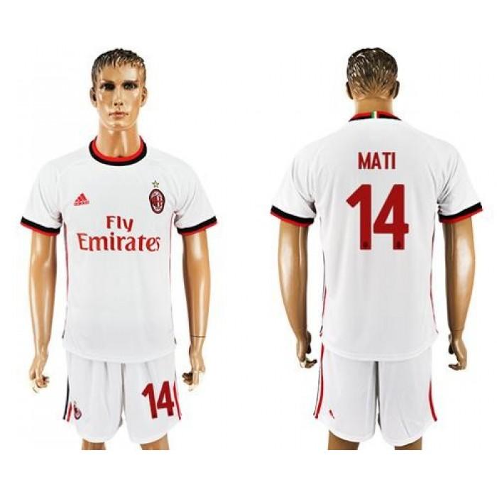 AC Milan #14 Mati Away Soccer Club Jersey