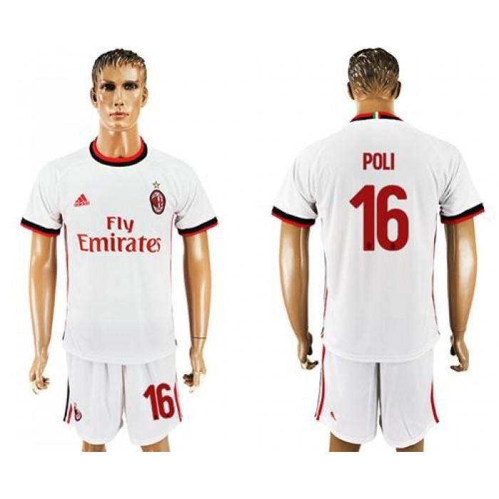 AC Milan #16 Poli Away Soccer Club Jersey