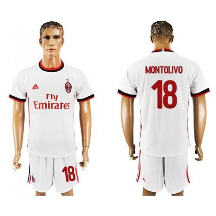 AC Milan #18 Montolivo Away Soccer Club Jersey