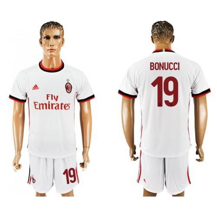 AC Milan #19 Bonucci White Soccer Club Jersey