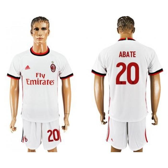 AC Milan #20 Abate Away Soccer Club Jersey