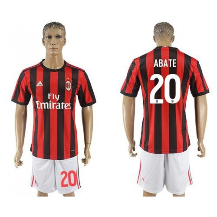 AC Milan #20 Abate Home Soccer Club Jersey