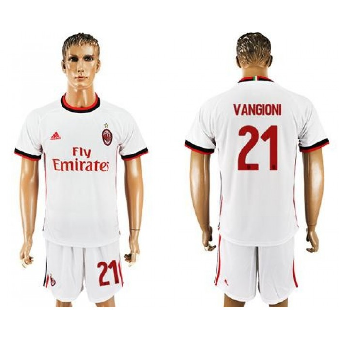 AC Milan #21 Vangioni Away Soccer Club Jersey