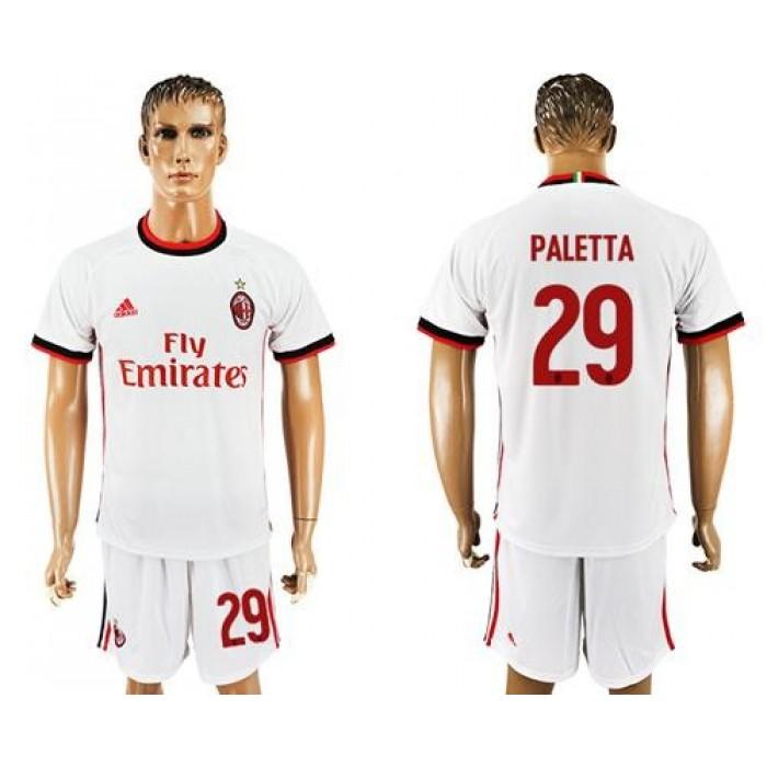 AC Milan #29 Paletta Away Soccer Club Jersey