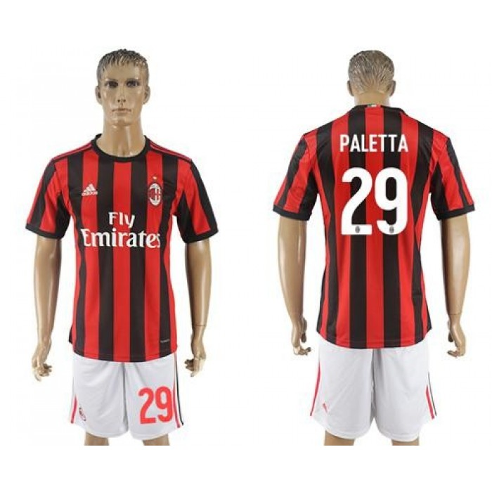 AC Milan #29 Paletta Home Soccer Club Jersey