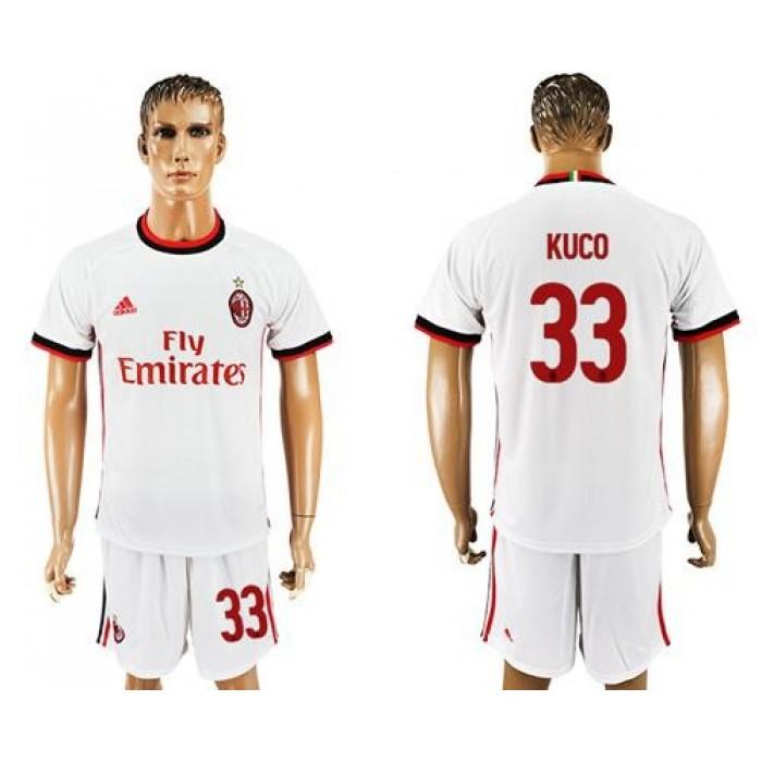AC Milan #33 Kuco Away Soccer Club Jersey