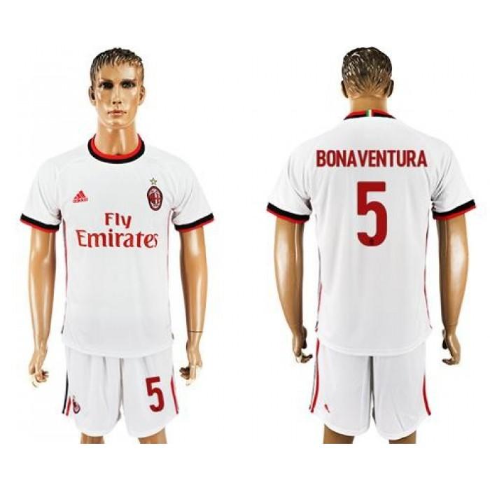 AC Milan #5 Bonaventura Away Soccer Club Jersey