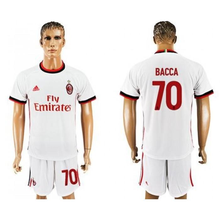AC Milan #70 Bacca Away Soccer Club Jersey