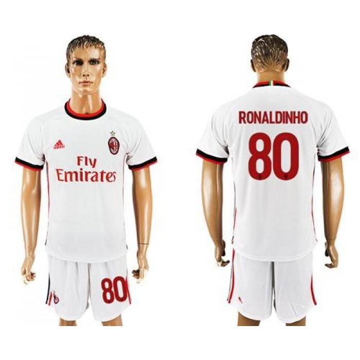 AC Milan #80 Ronaldinho Away Soccer Club Jersey
