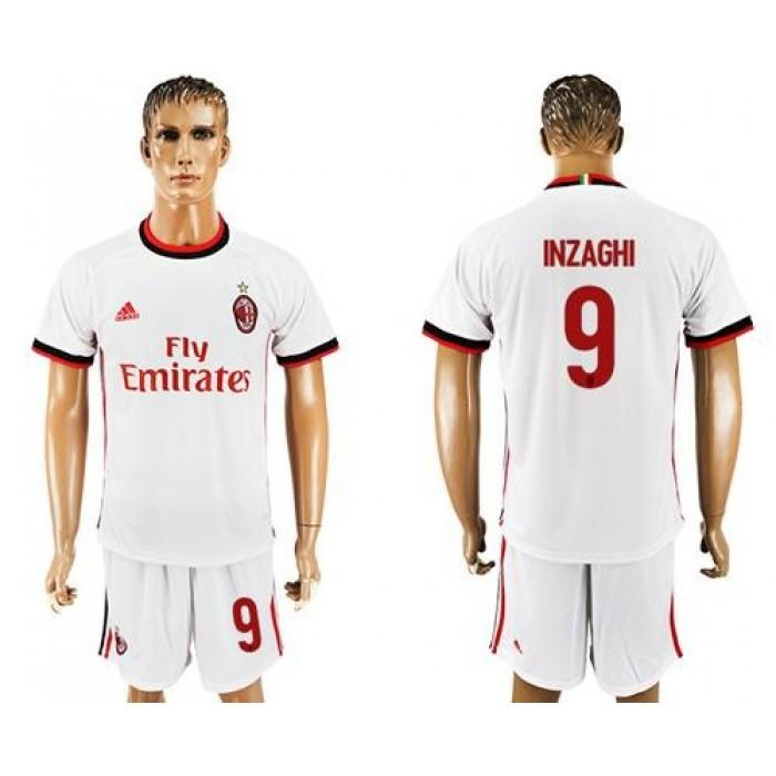 AC Milan #9 Inzaghi Away Soccer Club Jersey