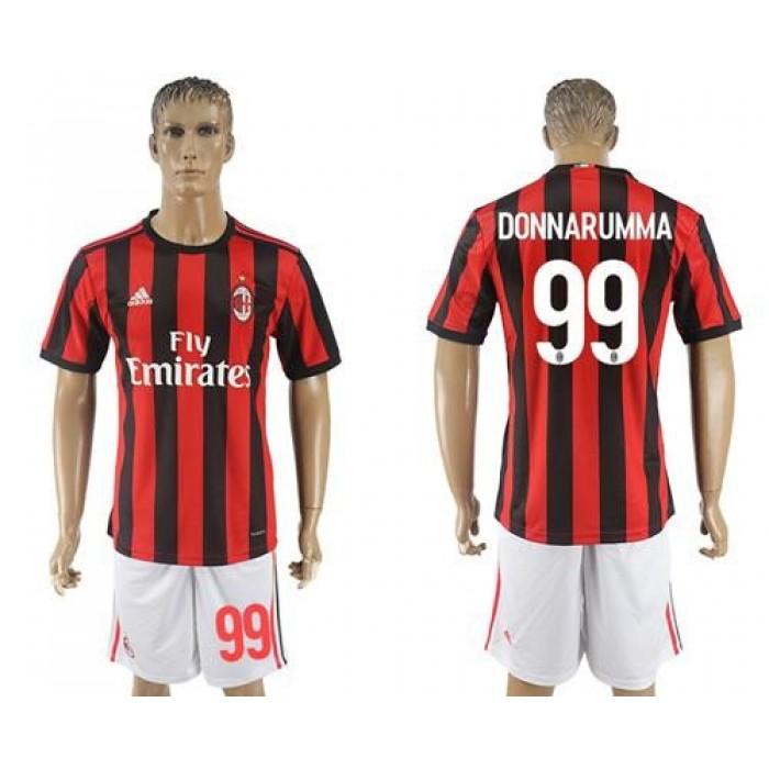 AC Milan #99 Donnarumma Home Soccer Club Jersey