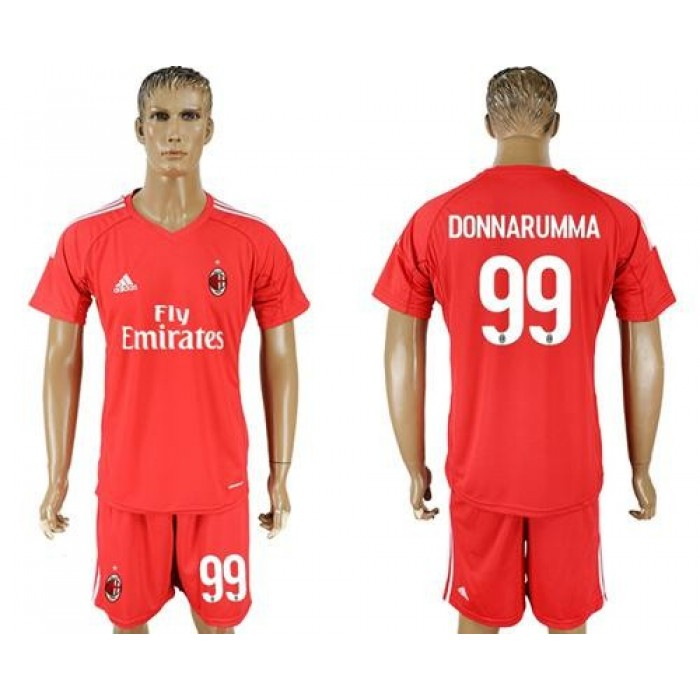 AC Milan #99 Donnarumma Red Goalkeeper Soccer Club Jersey