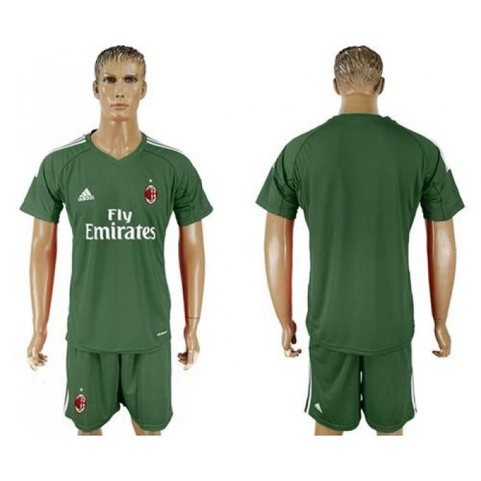 AC Milan Blank Green Goalkeeper Soccer Club Jersey