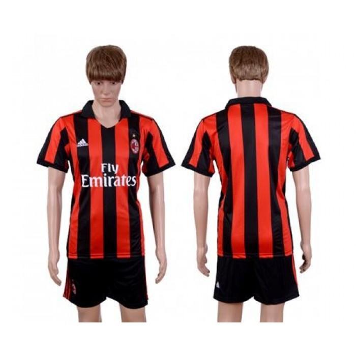 AC Milan Blank Home Soccer Club Jersey