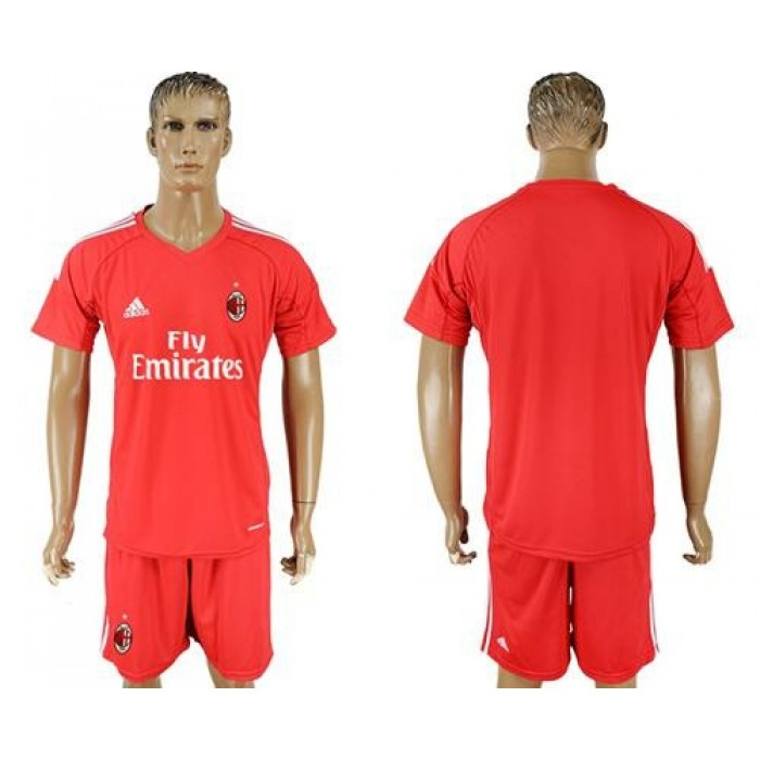 AC Milan Blank Red Goalkeeper Soccer Club Jersey