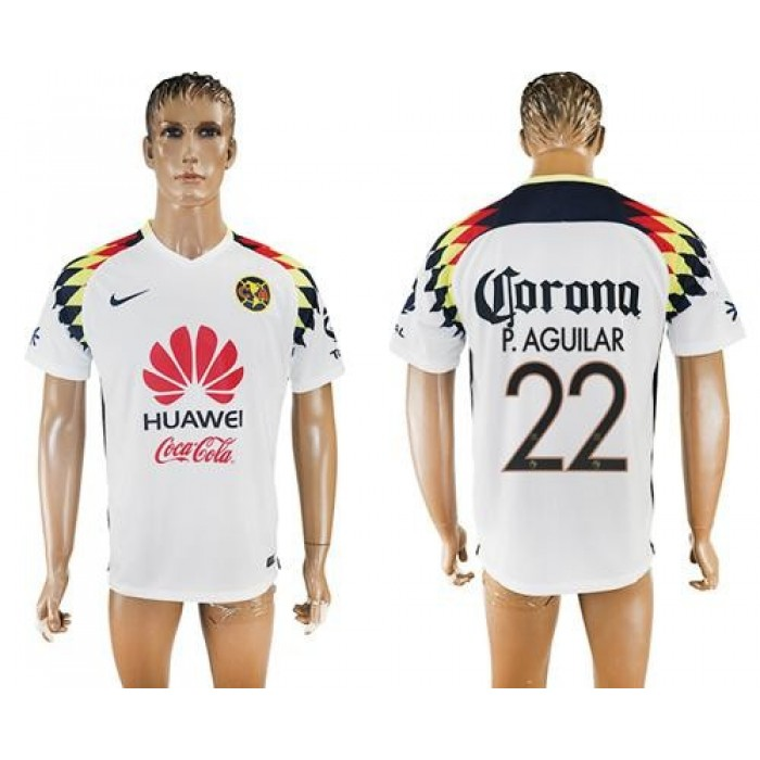 America #22 P.Aguilar Away Soccer Club Jersey