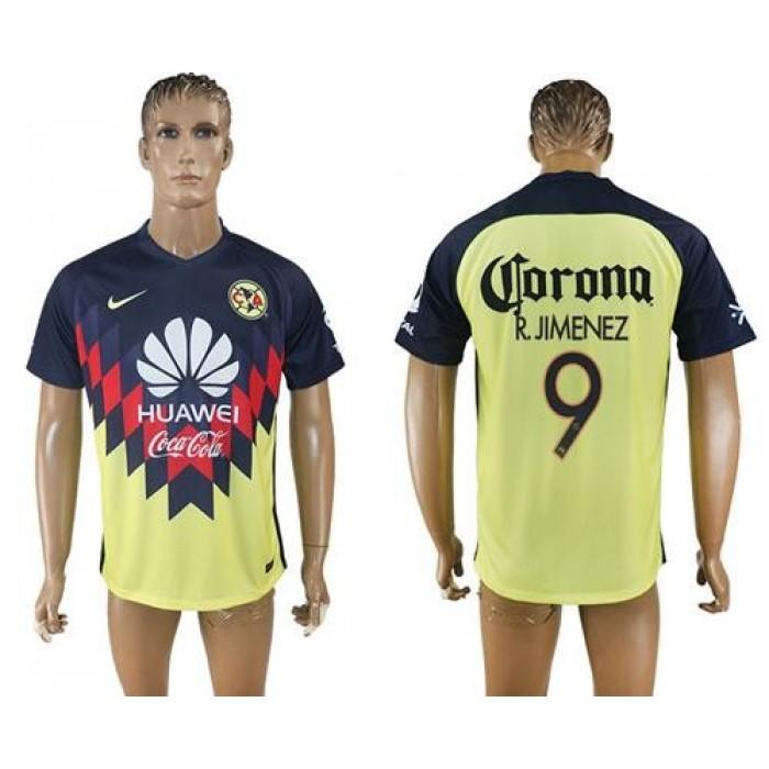 America #9 R.Jimenez Home Soccer Club Jersey