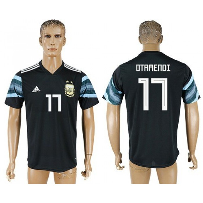 Argentina #17 Otamemdi Away Soccer Country Jersey