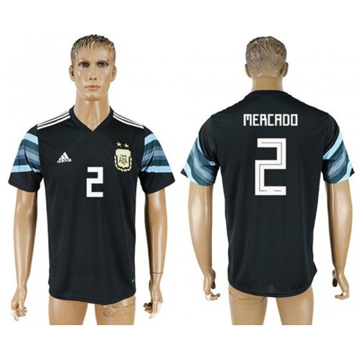 Argentina #2 Mercado Away Soccer Country Jersey