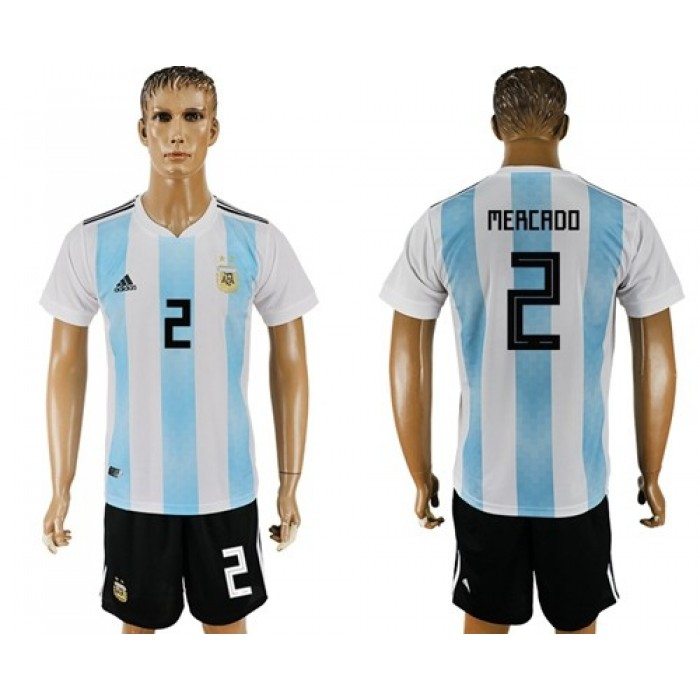 Argentina #2 Mercado Home Soccer Country Jersey