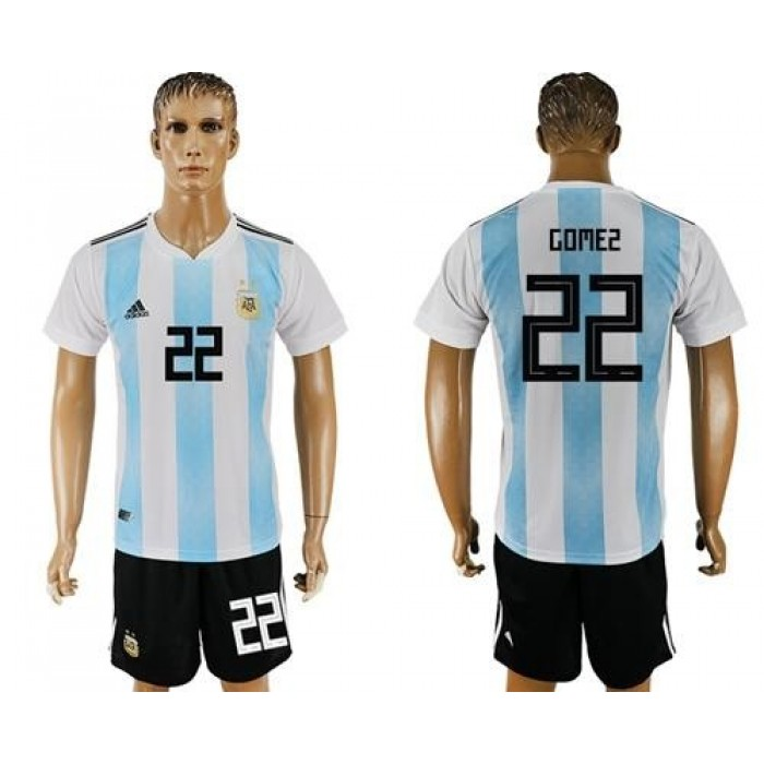 Argentina #22 Gomez Home Soccer Country Jersey