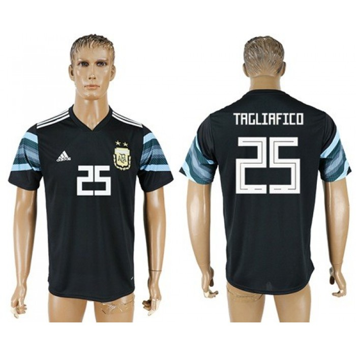 Argentina #25 Tagliafico Away Soccer Country Jersey
