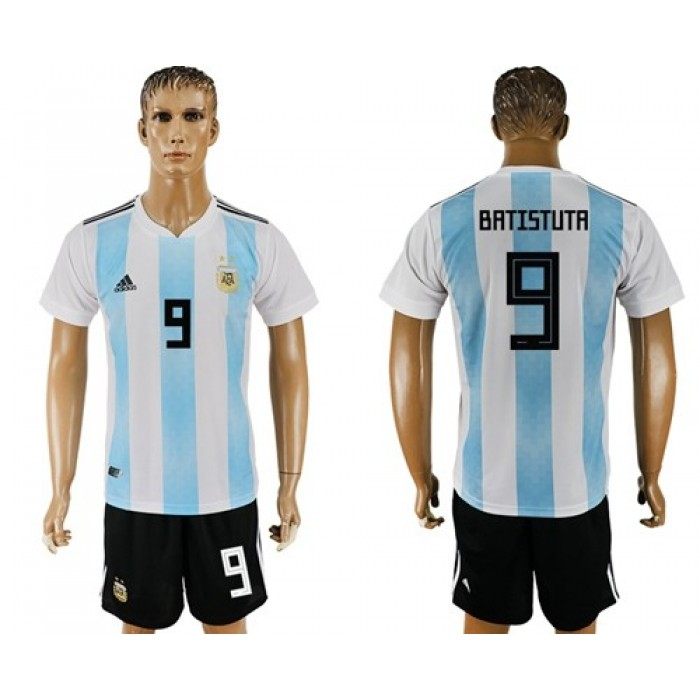 Argentina #9 Batistuta Home Soccer Country Jersey