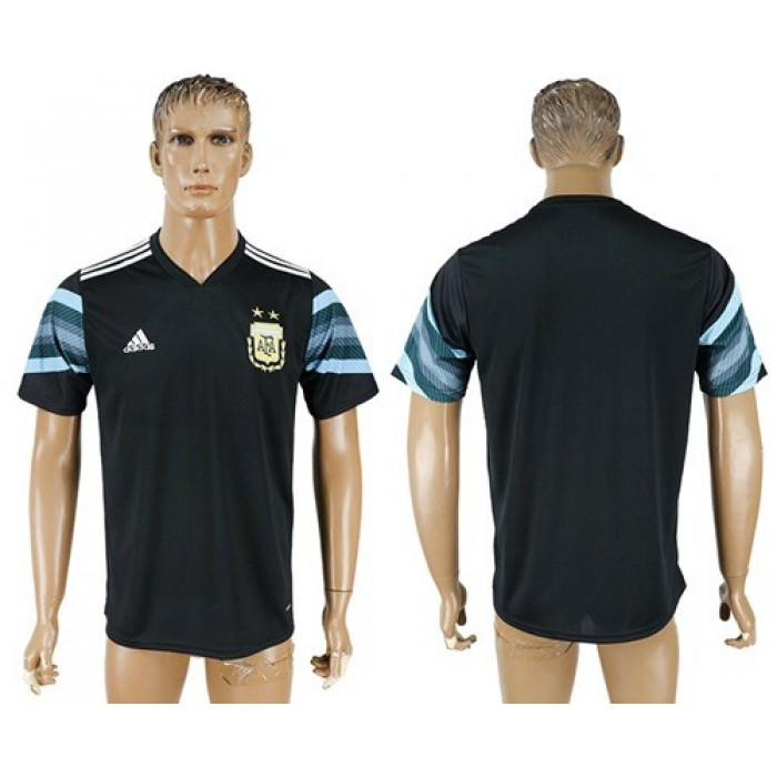 Argentina Blank Away Soccer Country Jersey