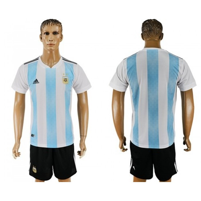 Argentina Blank Home Soccer Country Jersey