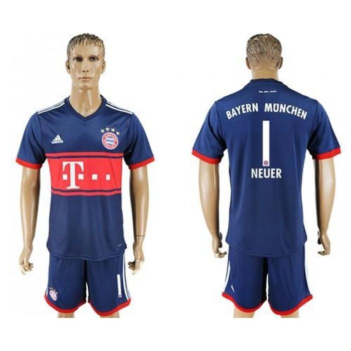 Bayern Munchen #1 Neuer Away Soccer Club Jersey