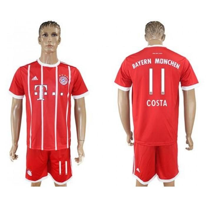 Bayern Munchen #11 Costa Home Soccer Club Jersey