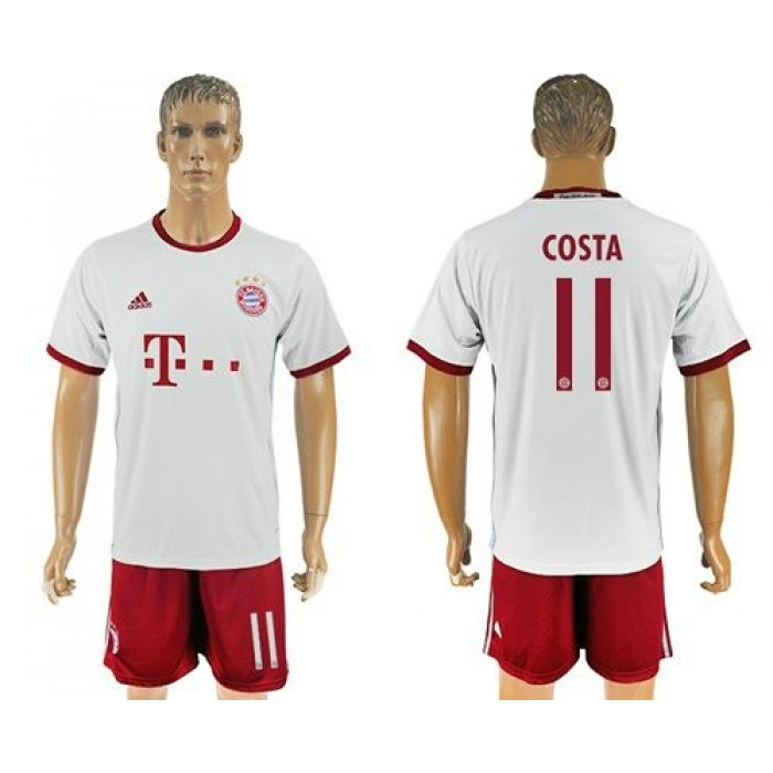 Bayern Munchen #11 Costa Sec Away Soccer Club Jersey