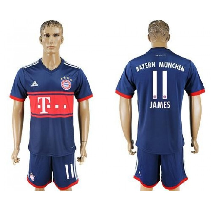 Bayern Munchen #11 James Away Soccer Club Jersey