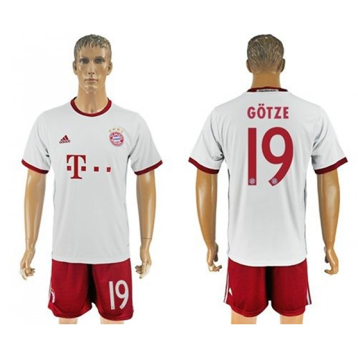 Bayern Munchen #11 James Sec Away Soccer Club Jersey