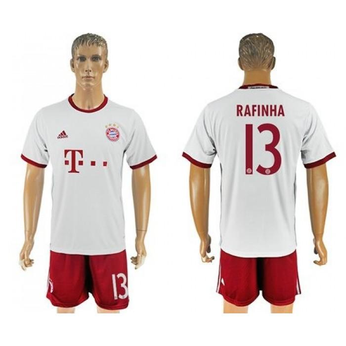 Bayern Munchen #13 Rafinha Sec Away Soccer Club Jersey