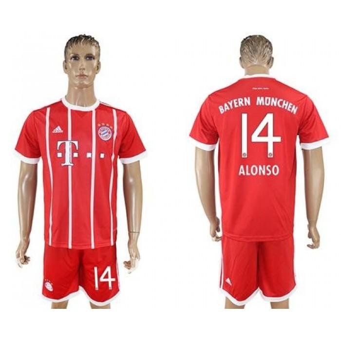 Bayern Munchen #14 Alonso Home Soccer Club Jersey
