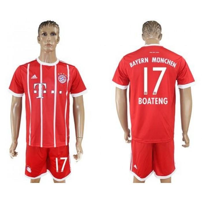 Bayern Munchen #17 Boateng Home Soccer Club Jersey