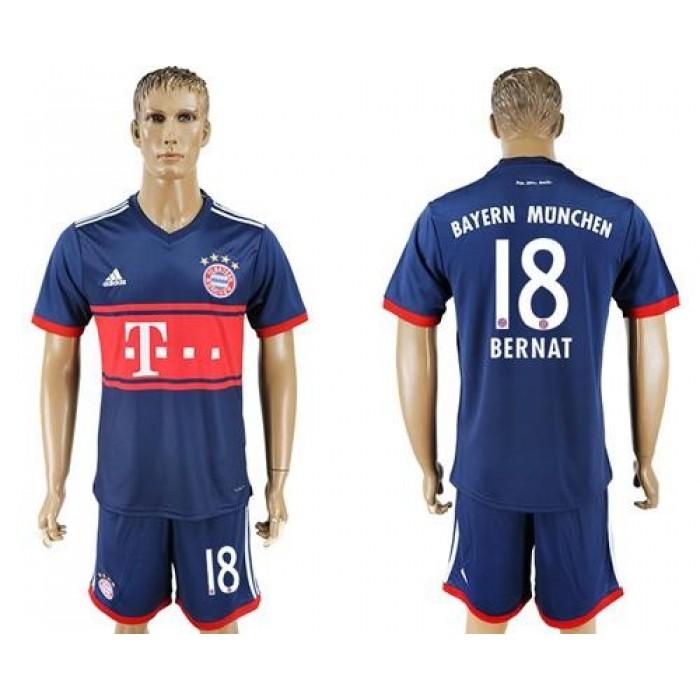 Bayern Munchen #18 Bernat Away Soccer Club Jersey
