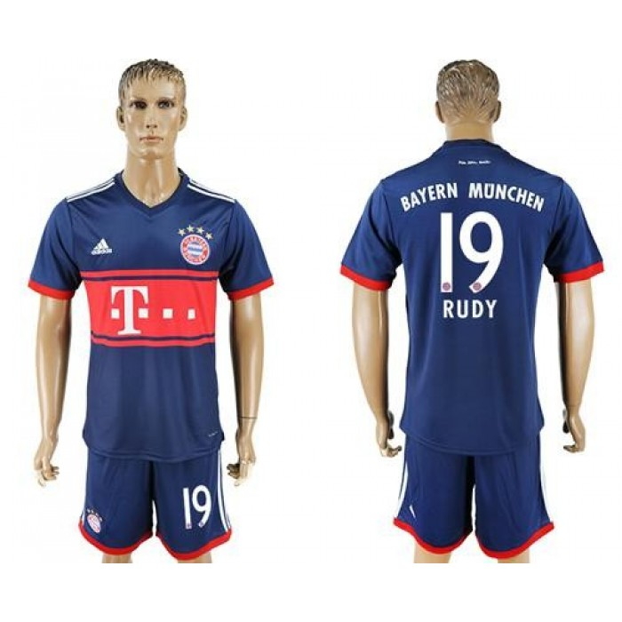 Bayern Munchen #19 Rudy Away Soccer Club Jersey