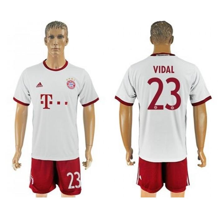 Bayern Munchen #23 Vidal Sec Away Soccer Club Jersey