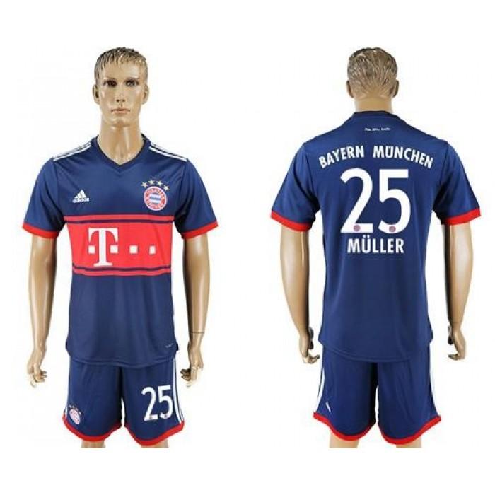 Bayern Munchen #25 Muller Away Soccer Club Jersey