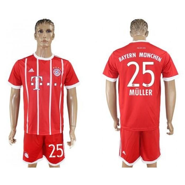 Bayern Munchen #25 Muller Home Soccer Club Jersey