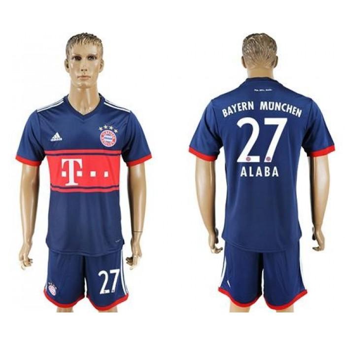 Bayern Munchen #27 Alaba Away Soccer Club Jersey