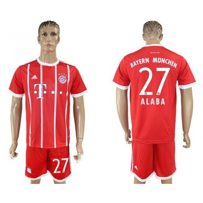 Bayern Munchen #27 Alaba Home Soccer Club Jersey