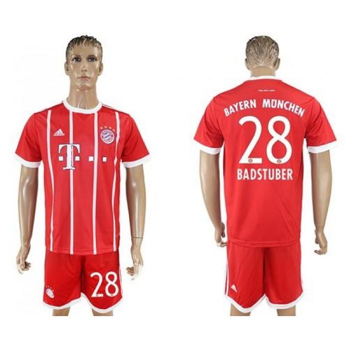 Bayern Munchen #28 Badstuber Home Soccer Club Jersey