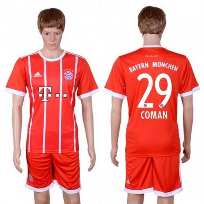 Bayern Munchen #29 Coman Home Soccer Club Jersey