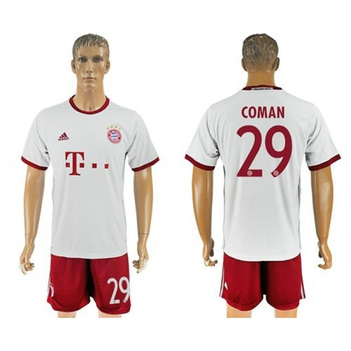 Bayern Munchen #29 Coman Sec Away Soccer Club Jersey
