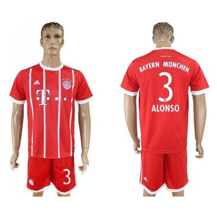 Bayern Munchen #3 Alonso Home Soccer Club Jersey